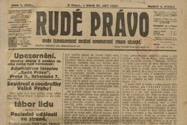 The Journal Department of the National Museum Library Has Completed the Digitisation of Rudé právo from the Period of the First Republic and Proceeded to the Digitisation of České slovo