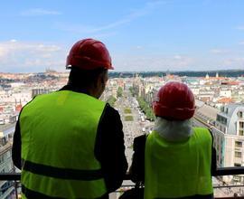 Členové delegace se pokochali i úžasným výhledem na Prahu