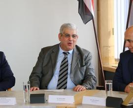 Tiskové konference se zúčastnili důležití hosté, včetně chargé d´affaire Sýrie v ČR Bashara Akbika