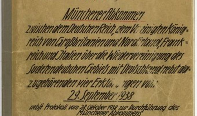 The Munich Agreement, the Hácha–Hitler Protocol and other unique documents in the Czech-Slovak / Slovak-Czech Exhibition