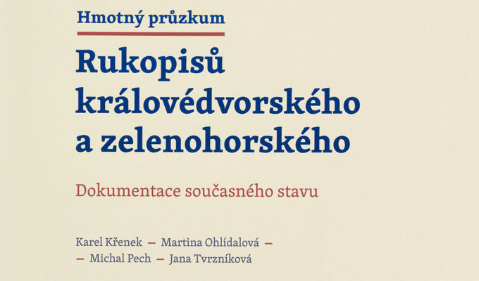 The NM Library Has Published the Monograph Material Research into the Manuscript of Dvůr Králové and the Manuscript of Zelená Hora: The Documentation of Their Current State