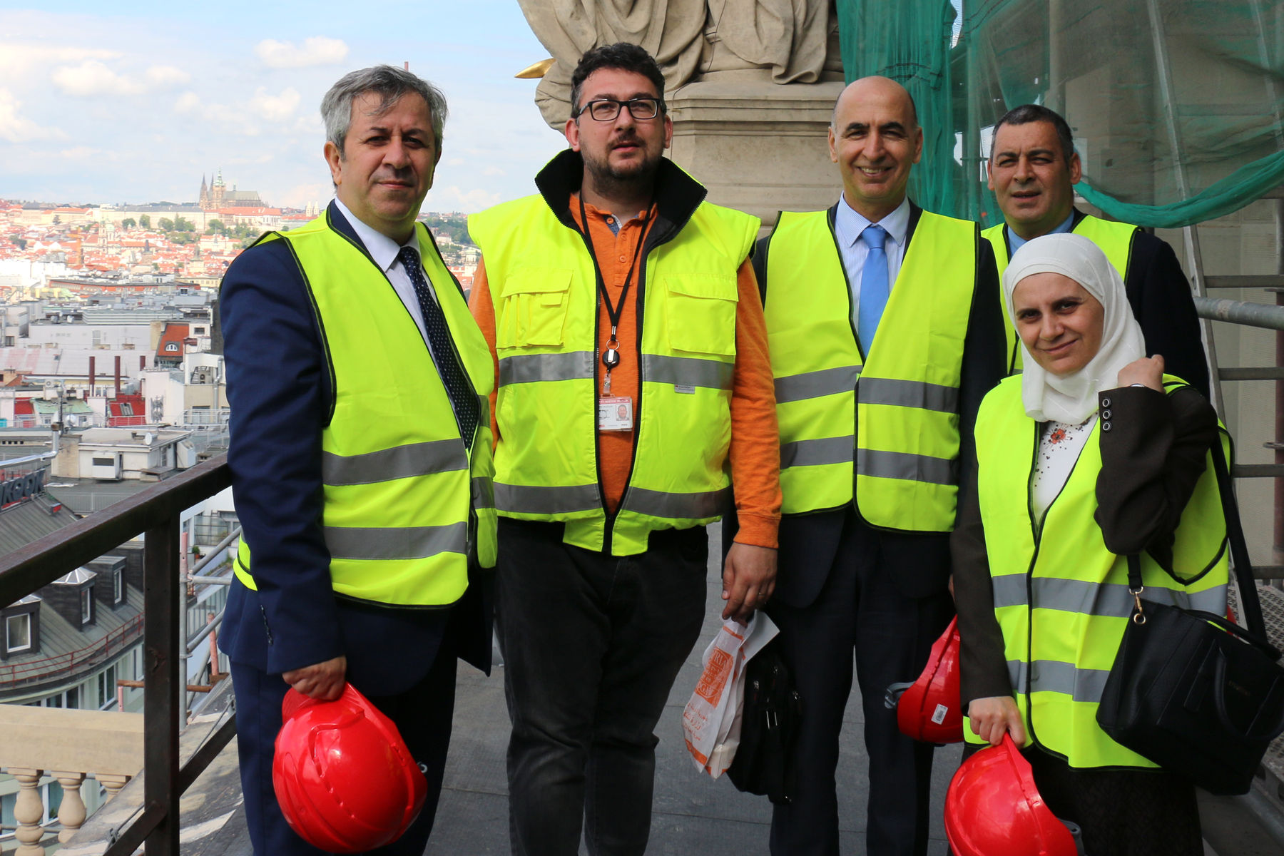 The delegation visited the Historical Building of the National Museum, which is being reconstructed at the moment.