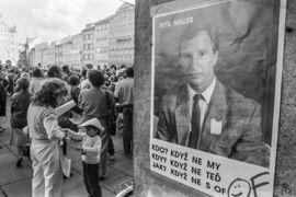 The Velvet Revolution Exhibition: Back on the benches