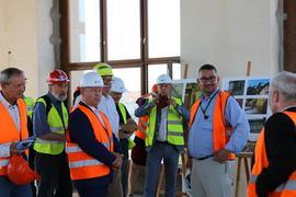 Rekonstruovanou Historickou budovu Národního muzea navštívil během kontrolního dne ministr kultury ČR Antonín Staněk
