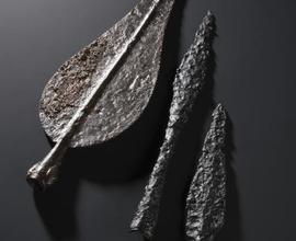 Tři typy železných hrotů kopí z Velkých Číčovic a Letek