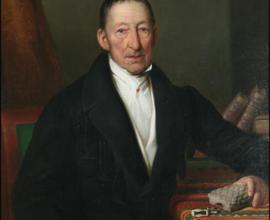 Kašpar Maria hrabě Šternberk, olejomalba, autor Alexander Clarot, Praha, 1838, foto Radovan Boček.