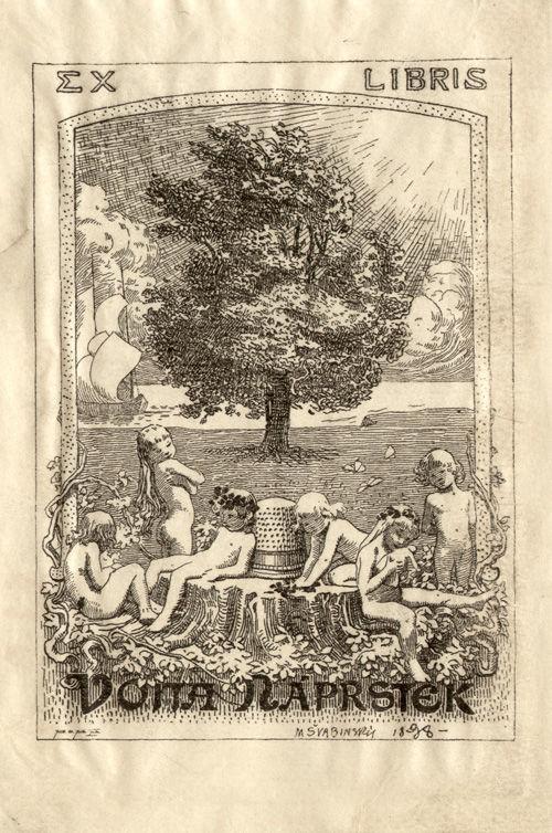 Exlibris Vojty Náprstka od Maxe Švabinského
