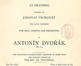 Antonín Dvořák: Saint Ludmila (klavírní výtah, dobový tisk). London: Novello, s. a.