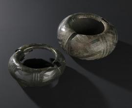 Bronzové turbany s geometrickou výzdobou, Střelské Hoštice (u Strakonic), Rovná (u Strakonic)