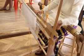 Ukázka tkaní / Weaving Demonstrations