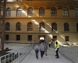 Den otevřených dveří nabídl příležitost prohlédnout si Historickou budovu během rekonstrukce