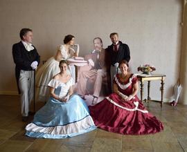 Bedřich Smetana ve společnosti taneční skupiny The Wings