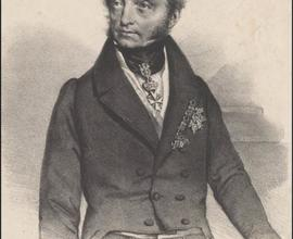 František Josef hrabě Klebelsberg, litografie, autor Josef Kriehuber, Vídeň, 1835, foto Jana Kuříková.