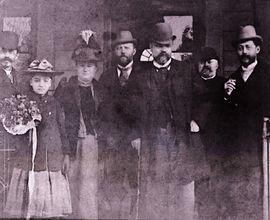 Antonín Dvořák spolu s Hanušem Wihanem a Ferdinandem Lachnerem na nádraží v Německém Brodě