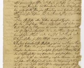 První strana Provolání An die vaterländischen Freunde der Wissenschaften, čistopis, rukopis, 10. 4. 1818