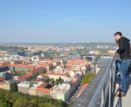Výhled z Národního památníku na Vítkově