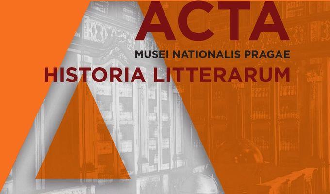 Vydání nového čísla časopisu Acta Musei Nationalis Pragae – Historia litterarum