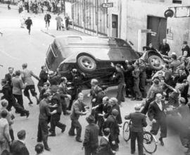 """""""Srpnové povstání"""" dánských občanů, které následovalo po německé okupaci Dánska 29. srpna 1943."""
