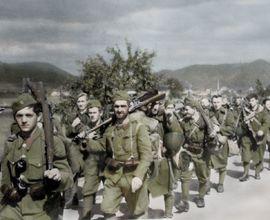 Povstalecká pěchota na přesunu v Turci