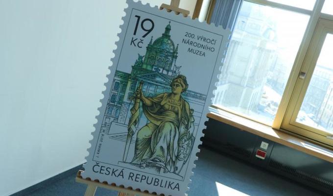 200. výročí založení Národního muzea připomínají pamětní mince a poštovní známka